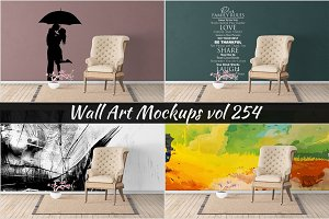 Wall Mockup - Sticker Mockup Vol 254