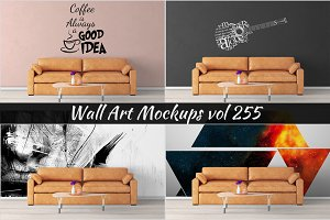 Wall Mockup - Sticker Mockup Vol 255