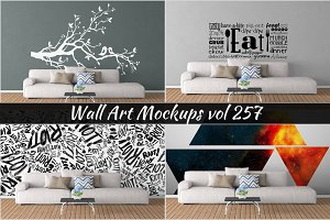 Wall Mockup - Sticker Mockup Vol 257