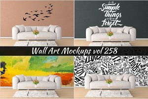 Wall Mockup - Sticker Mockup Vol 258