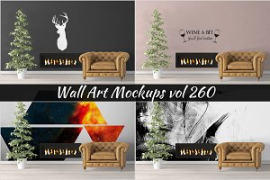 Wall Mockup - Sticker Mockup Vol 260
