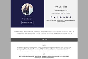 You're Hired WordPress Resume Theme