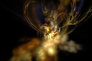 Yellow nebula and smoke abstract background