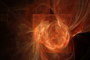 Fire red waves abstract background