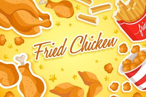 Set of Fried Chicken