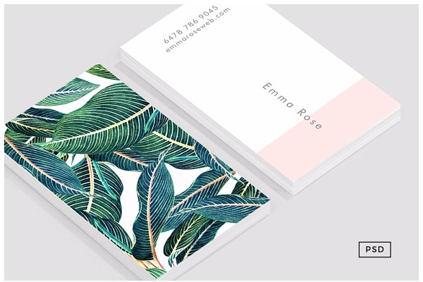 Business Card Templates: 8 3 O® - Botanical 02 Business Card Template