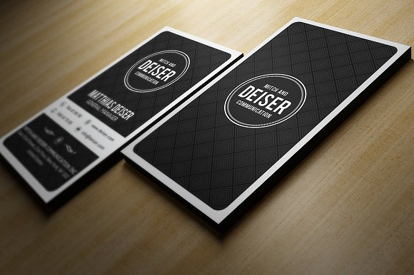 Black and white business card business card templates creative black and white business card business card templates creative market reheart Images