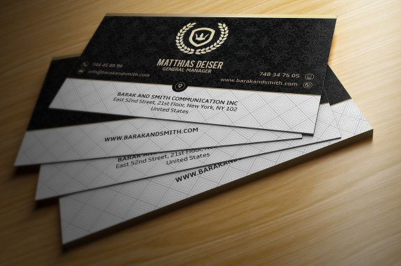 Gold and black business card business card templates creative market reheart Choice Image