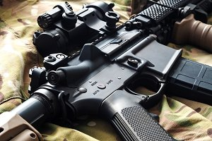 Mk18 MOD1 U.S. Army short barrel rifle (SBR)