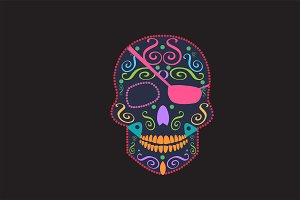 Skull vector pirate