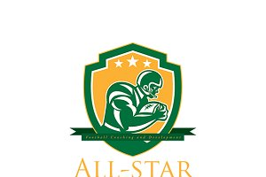 All-Star Football Coaching Logo