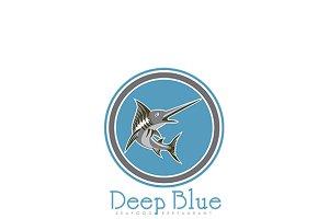 Deep Blue Seafood Restaurant Logo