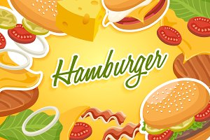 Set of Hamburgers