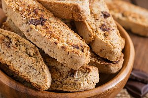 Italian biscotti cookies with nuts