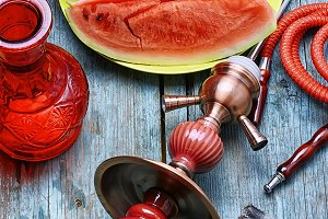 Hookah with taste watermelon