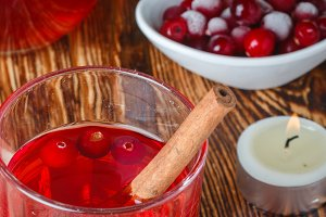 Fresh cranberry juice.
