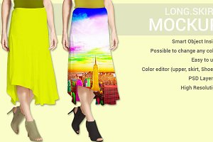 Long Skirt Dress Mockup