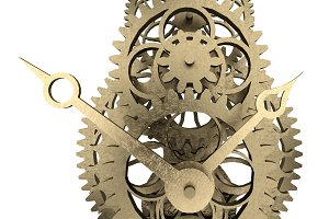 antique brass clock mechanism