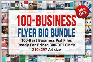 100 Best Business Flyers Bundle