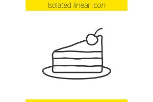 Piece of cake icon. Vector