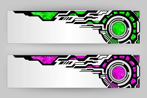 abstract tech banners