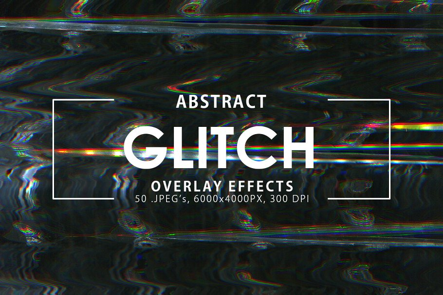 Glitch Overlay Effects ~ Textures ~ Creative Market