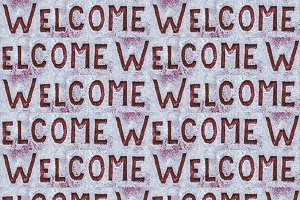Welcome Seamless Pattern Background