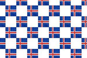 Iceland Flag Grunge Pattern