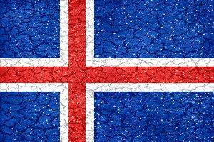 Iceland Grunge Style Flag