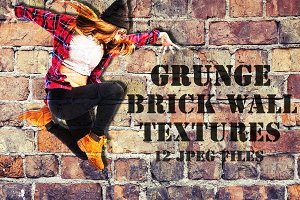 Old grunge brick wall textures