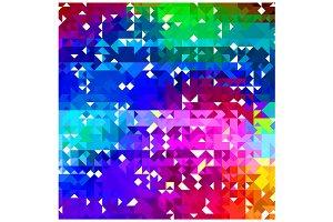 Triangle Pattern Color Wheel Palette
