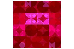 Red and Pink Circles Pattern