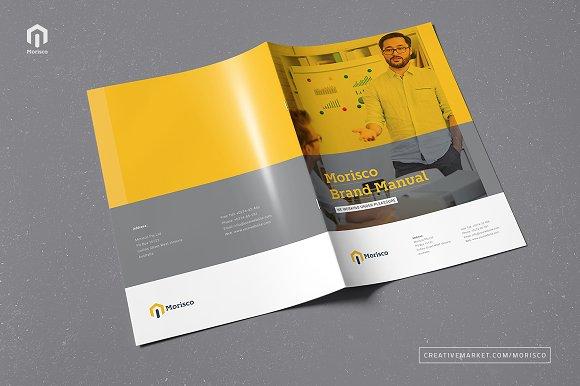 Brand Manual Brochure Templates on Creative Market – Manual Design Templates