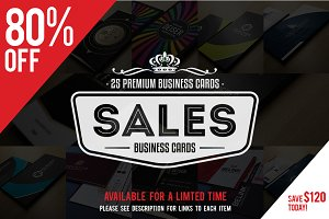 [80% OFF] Business Cards Bundle