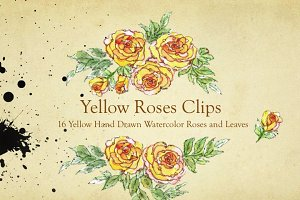 Yellow Roses Design Elements