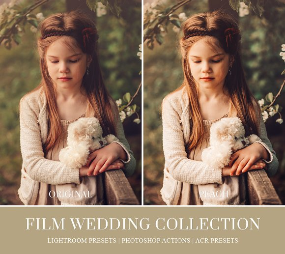 Film Wedding Lightroom Presets Actions Creative Market
