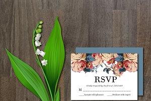 RSVP Card Flower