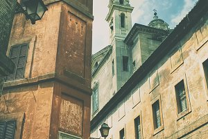 Buildings and streets of Rome