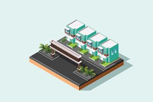 Isometric Illustration House-03