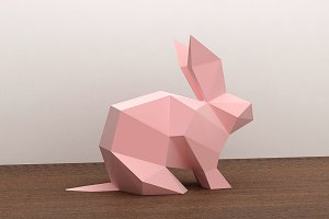 DIY Rabbit -3d papercraft
