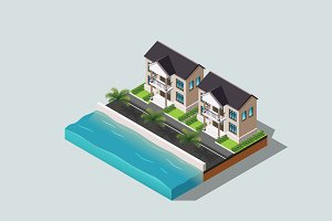 Isometric Illustration House-04
