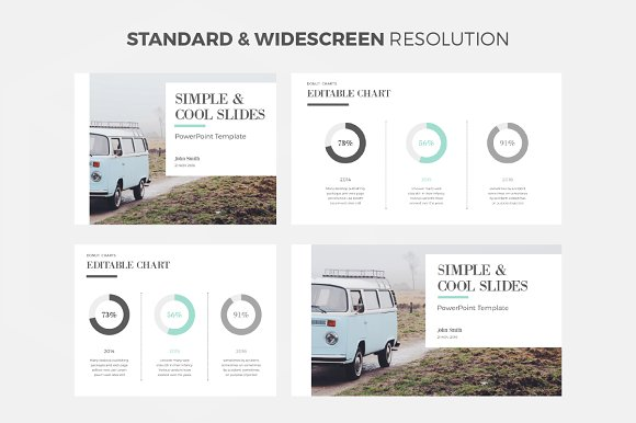 Simple Cool Powerpoint Template Presentation Templates