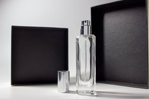 Empty bottle of perfume