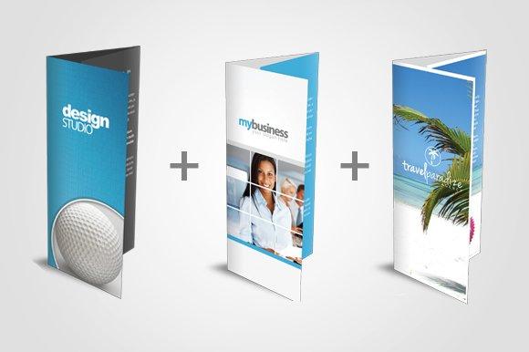 tri fold brochure bundle brochure templates creative market