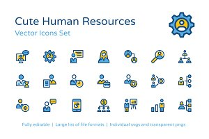 75+ Human Resources Vector Icons