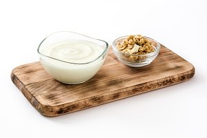 Greek yogurt and nuts