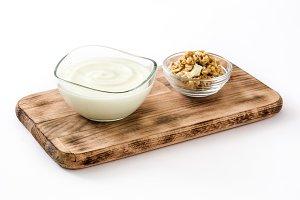 Greek yogurt and nuts
