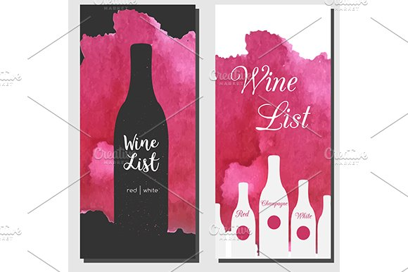 wine list design templates product mockups creative market