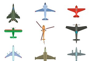Color airplanes and helicopters