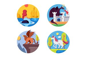 Fairy mythical creatures icons
